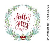 hand drawn winter holiday... | Shutterstock .eps vector #778583731