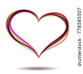 happy valentine's day. a heart. ... | Shutterstock .eps vector #778585507