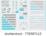 interface buttons. web toggle... | Shutterstock .eps vector #778587115