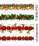 vector christmas border | Shutterstock .eps vector #778587955