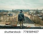 a man with a tactical equipment ...   Shutterstock . vector #778589407