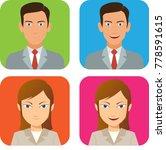 man and woman portrait avatar | Shutterstock .eps vector #778591615