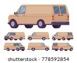 beige van set. road vehicle for ... | Shutterstock .eps vector #778592854