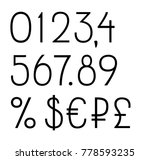 vector digits font set. prices... | Shutterstock .eps vector #778593235