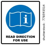 read direction for use icon.... | Shutterstock .eps vector #778593514