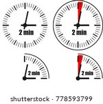 two minute clock on white... | Shutterstock .eps vector #778593799