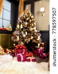 festive decorations and... | Shutterstock . vector #778597507