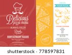 restaurant menu template with... | Shutterstock .eps vector #778597831
