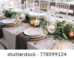 wedding. banquet. the chairs... | Shutterstock . vector #778599124