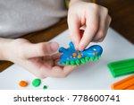 Child Shapes Of Plasticine