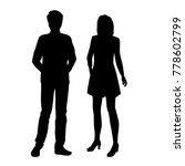 vector silhouettes of man and... | Shutterstock .eps vector #778602799