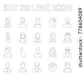 avatar and face outline icons... | Shutterstock .eps vector #778604089