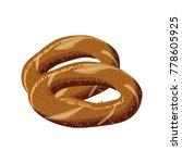 turkish traditional bagel simit.... | Shutterstock .eps vector #778605925