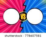 versus vs letters fight... | Shutterstock .eps vector #778607581