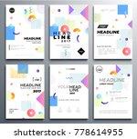 presentation booklet cover  ... | Shutterstock .eps vector #778614955