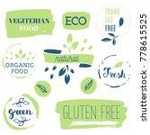 fresh  organic  gluten free ... | Shutterstock .eps vector #778615525
