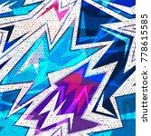 graffiti bright psychedelic...   Shutterstock .eps vector #778615585