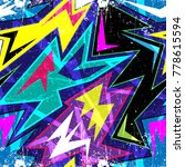 graffiti bright psychedelic... | Shutterstock .eps vector #778615594