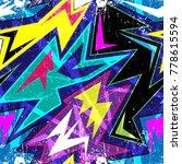 graffiti bright psychedelic... | Shutterstock .eps vector #778615594