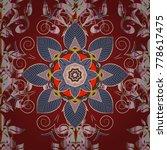 flat flower elements design... | Shutterstock .eps vector #778617475