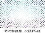 light pink  blue vector...   Shutterstock .eps vector #778619185