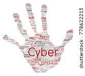 vector conceptual cyber... | Shutterstock .eps vector #778622215