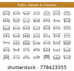 sofas   couches. living room  ... | Shutterstock .eps vector #778623355