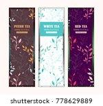 set of vector templates for tea ... | Shutterstock .eps vector #778629889