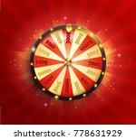 symbol of spinning fortune... | Shutterstock .eps vector #778631929