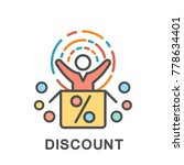 icon discount. the buyer enjoys ... | Shutterstock .eps vector #778634401