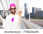 young crazy businessman victory ... | Shutterstock . vector #778636645