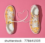 fashion trendy trainers with... | Shutterstock . vector #778641535