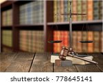 courtroom library concept | Shutterstock . vector #778645141