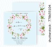save the date card  wedding... | Shutterstock .eps vector #778655104