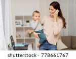 motherhood  multi tasking ... | Shutterstock . vector #778661767