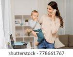 motherhood  multi tasking ...   Shutterstock . vector #778661767