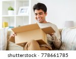 mail delivery  shipment and... | Shutterstock . vector #778661785