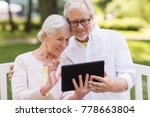 old age  technology and people... | Shutterstock . vector #778663804