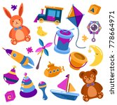set of isolated kids or... | Shutterstock .eps vector #778664971