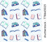 back to school seamless pattern ... | Shutterstock .eps vector #778665025