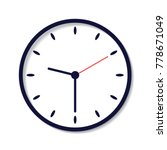 clock icon in flat style  timer ... | Shutterstock .eps vector #778671049