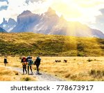 group of travelers with... | Shutterstock . vector #778673917