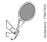 tennis racket design | Shutterstock .eps vector #778677415