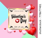 valentines day sale promotion... | Shutterstock .eps vector #778677481