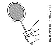 badminton racket design | Shutterstock .eps vector #778678444