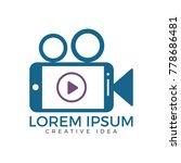 video mobile logo design.... | Shutterstock .eps vector #778686481