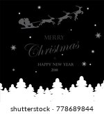 christmas greeting illustration | Shutterstock .eps vector #778689844