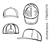 baseball  tennis  rap cap... | Shutterstock .eps vector #778690174