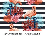 beautiful seamless vector...   Shutterstock .eps vector #778692655