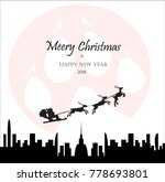 merry christmas holiday vector. ... | Shutterstock .eps vector #778693801
